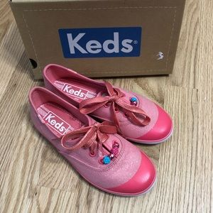 Keds Champion K Coral Beaded Lace Sneakers Sz 1.5
